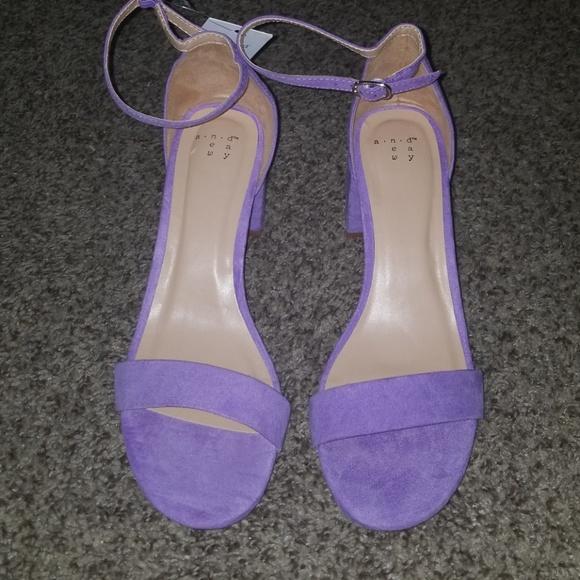 f174fc92d68a A New Day Lavender Block Heel Sandals